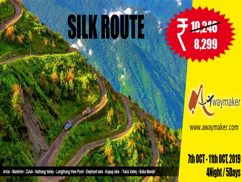 SILK ROUTE : The Zigzag Road of Himalaya (at Puja Vacation)